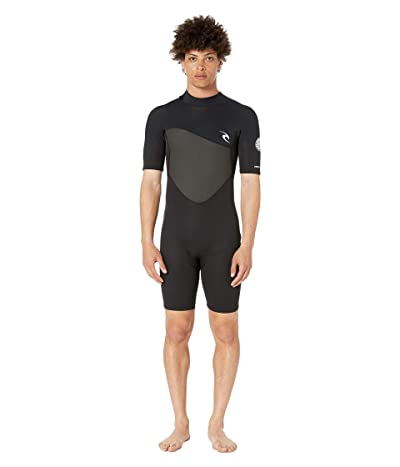 Rip Curl 1.5 mm Omega Short Sleeve Spring Suit (Black) Men