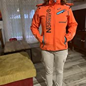 Chaqueta para mujer Geographical Norway Romantic Turbo-Dry softshell, con capucha extra/íble