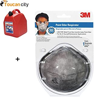 Toucan City Gas Can and 3M Paint Odor Respirator Mask (12-Case) 8247PA1-A