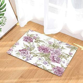 Peony Blooming Riqueza impresión Antideslizante Alfombra de Ducha Absorbente Alfombra Alfombra Alfombra de baño
