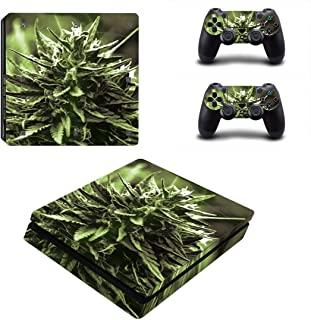 Toys BY060004 Stylish Plant Stickers Protective Film For PS4 Slim