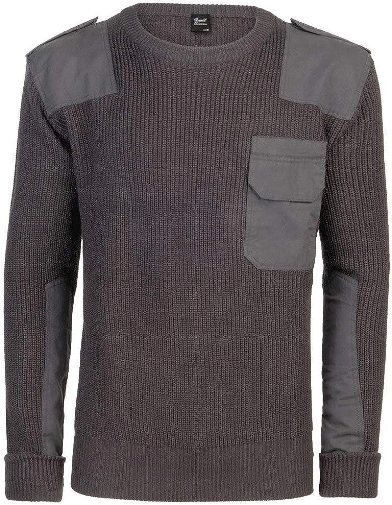 Brandit Men Pullover BW, Color:Anthracite, Size:3XL/60
