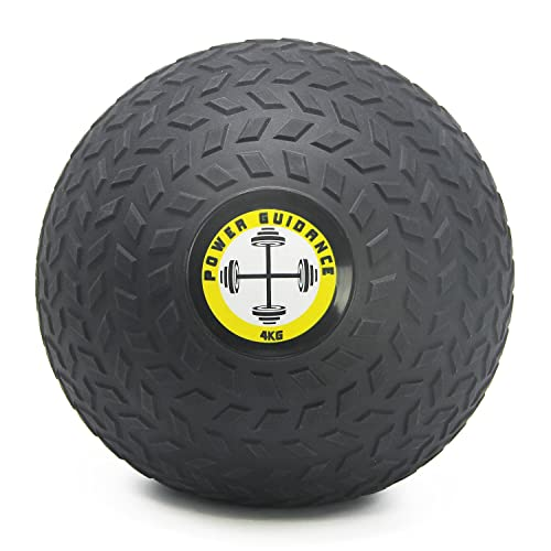 POWER GUIDANCE SLAM BALL No Bounce Textured Med Ball - Great for Core Training & Cardio Workouts