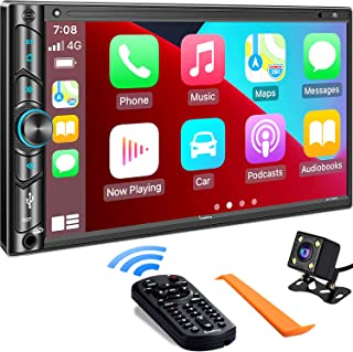 Double Din Car Stereo Compatible with Voice Control Apple...