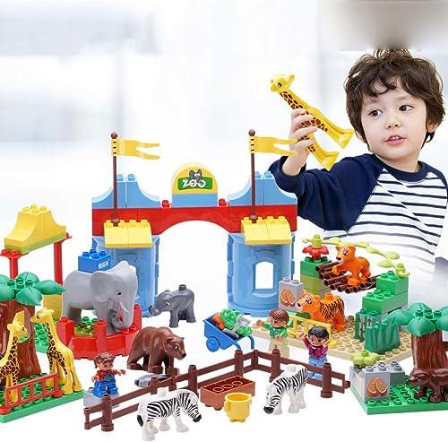 SEJNGF Kinderspielzeug Größe Partikel Bausteine Kunststoff Kinder P gogische Lernspielzeug