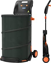 OAKLAR 42 Gallon Reusable Collapsible Trash Can, 3-in-1 All-Purpose Portable Container for Yard Debris, Lawn and Garden Wa...