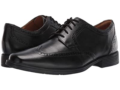 Clarks Tilden Wing (Black Leather) Men