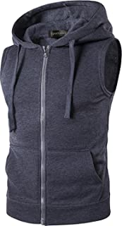 Sponsored Ad - Sportides Men's Casual Gilet Waistcoat Hoodie Sleeveless Sweatshirt Vest JZA001