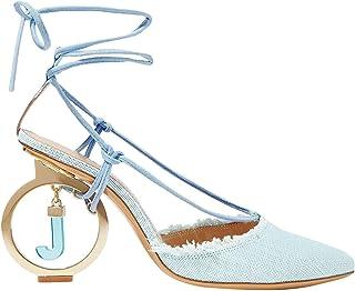 Luxury Fashion | Jacquemus Women MCGLCAT0000A8037I Light Blue Leather Heels | Season Outlet