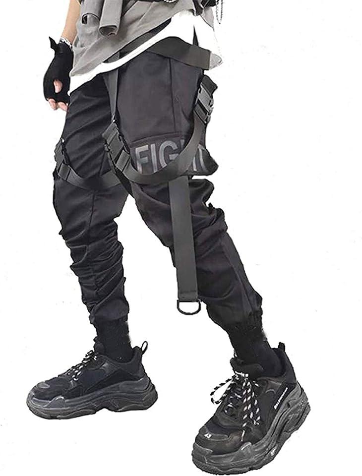Men's Joggers Streetwear Men Hip Hop Goth Pants Sweatpants Techwear Tactical Black Tactical Urban Joggers Pant