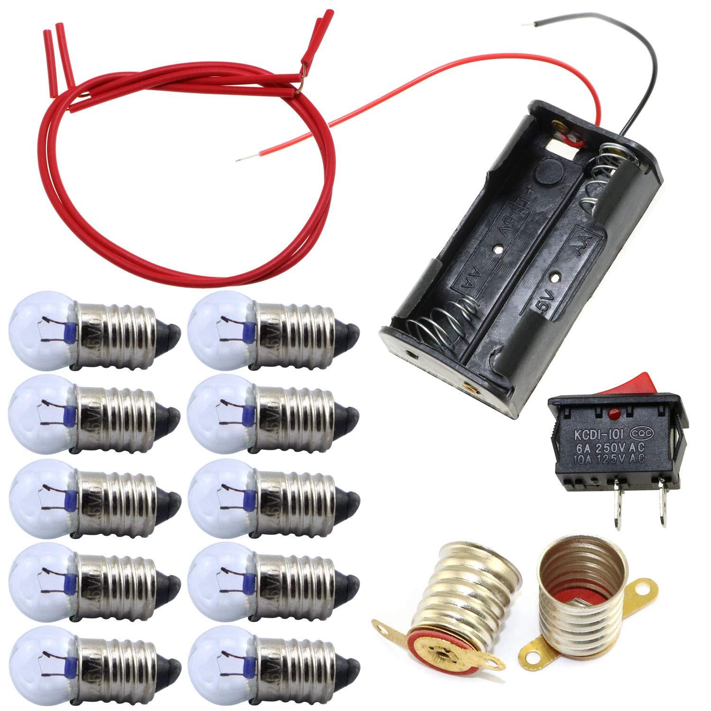 ToToT 1Set Electrical Circuit Experiment Kit Fun Physics Experiment Homemade Series Circuits DIY Materials Home School Educational Kit for Kids