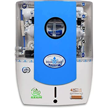 Aquadpure Copper RO Water Purifier with UV, UF & TDS for home 12 Liters, 8 Stage (Clear Blue Copper)