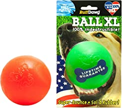Ruff Dawg Ball XL Solid Rubber Dog Toy Large Assorted Neon Colors