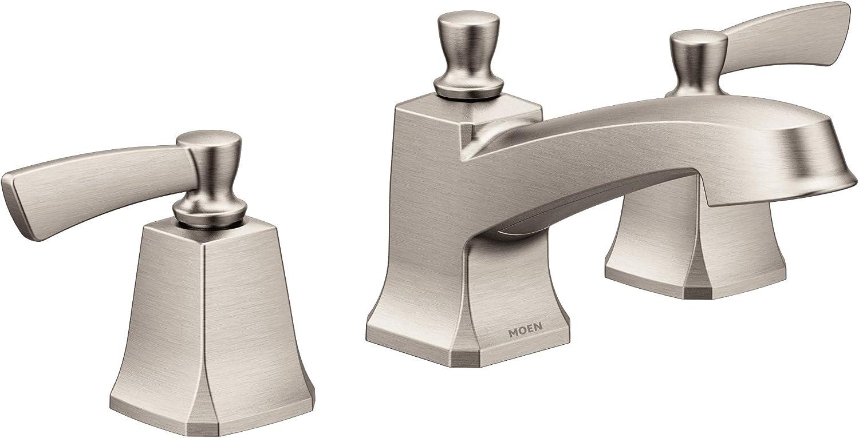 Buy Moen 84926srn Conway Two Handle Widespread Bathroom Sink Faucet With Valve Included Spot Resist Brushed Nickel Online In Indonesia B07rgr6y53
