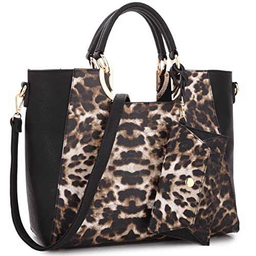 71ca77015b98 Womens Large Two Tone Handbag Structured Tote Fashion Satchel Bag Designer Shoulder  Bag w Matching