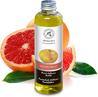 Refill Grapefruit 6.8oz 200ml for Reed Diffuser - Intensive & Long Fragrance for Room - Lasting Natural Room Scent - NON Alcohol - Refill for Office - Boutique - Restaurant - Aromatherapy