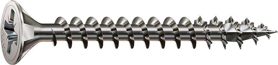 SPAX universele schroef van roestvrij staal roestvrij A2, 3,5 x 25 mm, 200 stuks, kruiskop Z2, verzonken kop, gedeeltelijk...