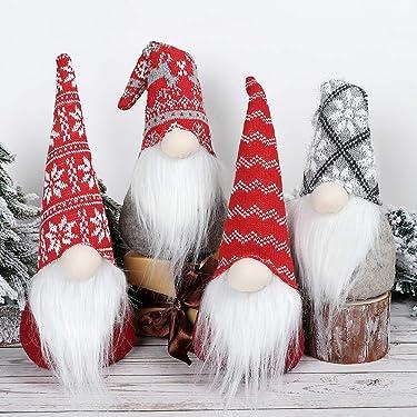 S-Deal - Gnomo de Navidad de felpa escandinava, diseño de tumba nórdica, sueco, yule de Papá Noel, decoraciones navideñas, decoración de mesa de invierno