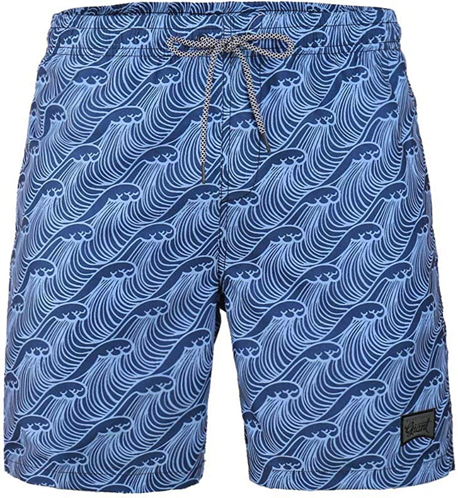TWain Men's Graphic Printed Swim Trunks Quick Dry Mesh Lining Board Shorts with Pockets
