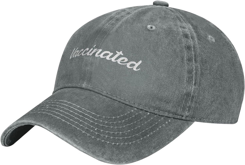 Vaccinated Classic Unisex Baseball Cap Adjustable Comfortable Cap Vitage Hat