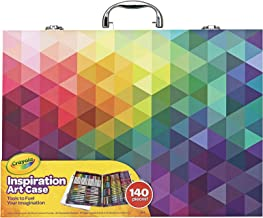 CRAYOLA 04 1999 Inspiration Art Case: 140 Pieces, Deluxe Set with Crayons, Pencils, Markers and Paper in a Portable Storag...