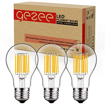 Clear Medium Base E26 LED Light Bulb Dimmable Goodlite G-20011 Filament 100 Watt Equivalent A21 Edison Style 3000k Warm White 1600 Lumens