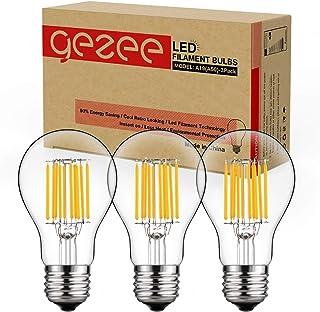GEZEE 10W Edison Style Vintage LED Filament Light Bulb, 100W Incandescent Replacement,Warm White