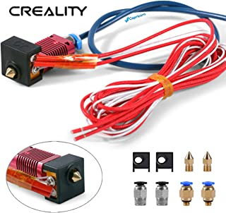 Ender 3 Pro Creality 3D Upgrades Parts Assembled Extruder Hotend with Capricorn Bowden PTFE Tubing 2×0.4mm Nozzle/Silicone Cover/PC4-M6 Fittings/PC4-M10 for Creality 3D Ender 3 and Ender 3 Pro
