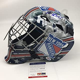 Autographed/Signed Mike Richter New York Randers Full Size F/S Replica Hockey Helmet Goalie Mask PSA/DNA COA