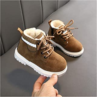 YOUPIN Baby Girls Boys Winter Boots Infant Toddler Plush Boots Martin Boots Soft Bottom Non-Slip Children Kids Outdoor Cot...