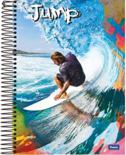 Caderno 15 Matérias Capa Dura 2019 Jump 300 Folhas, Foroni 8003, Multicor, 2 unidades