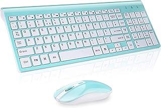 cimetech Wireless Keyboard and Mouse Set 2.4G Ultra-Thin Sleek Design para Windows, computadora, computadora de Escritorio, PC, computadora portátil, computadora portátil (UK Layout)