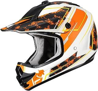 "Triangle Youth OffRoad Motorcycle Helmets ""Stain"" Sport ATV Motocross Dirt Bike [DOT] Yellow (Medium)"