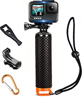 Waterproof Floating Hand Grip Compatible with GoPro Hero 9 8 7 6 5 4 3 3+ 2 1 Session Black Silver Camera Handler & Handle...
