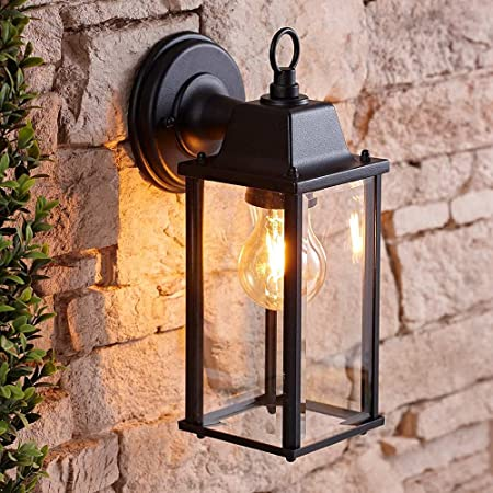 Biard Traditional Square Outdoor Wall Lantern - Alfta 42W E27 Retro Wall Lighting with Fixing Kit Included - Warm Welcoming Light Ideal for Porch, Driveway, Patio & Garden - Energy Rating A++