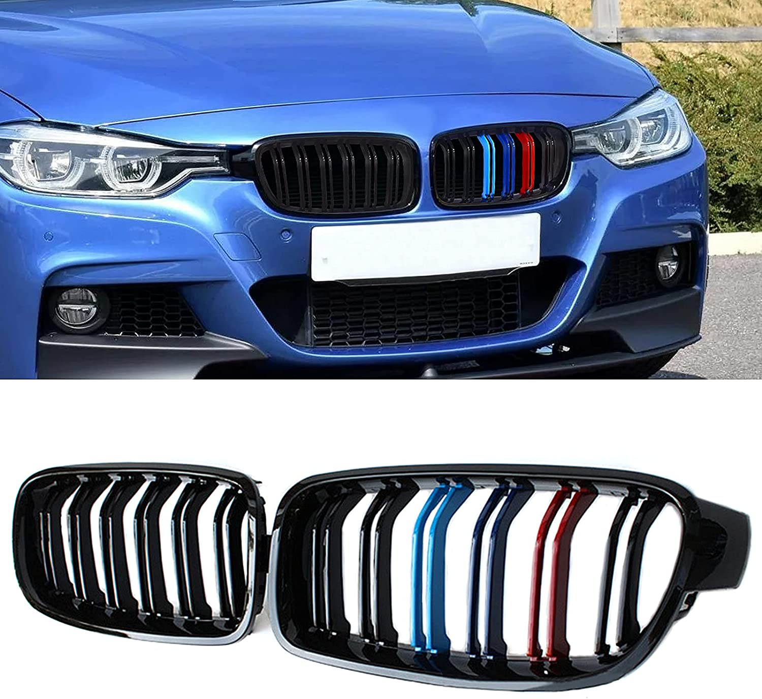 ATPOEN Grill Grille Front Seattle Mall Kidney for BMW Max 77% OFF 32 F31 Series F30 F35 3