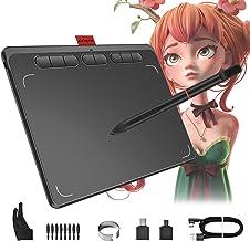 قرص طراحی ، قرص گرافیکی 9x5 اینچ Acepen با 8192 سطح قلم بدون باتری در دامنه شیب 60 درجه ، قرص طراحی دیجیتال برای MAC ، ویندوز و سیستم عامل آندروید ، 8 کلید میانبر قابل تنظیم