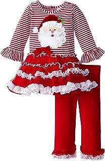 Rare Editions Little Girls' Santa Stripe Tutu Legging Set