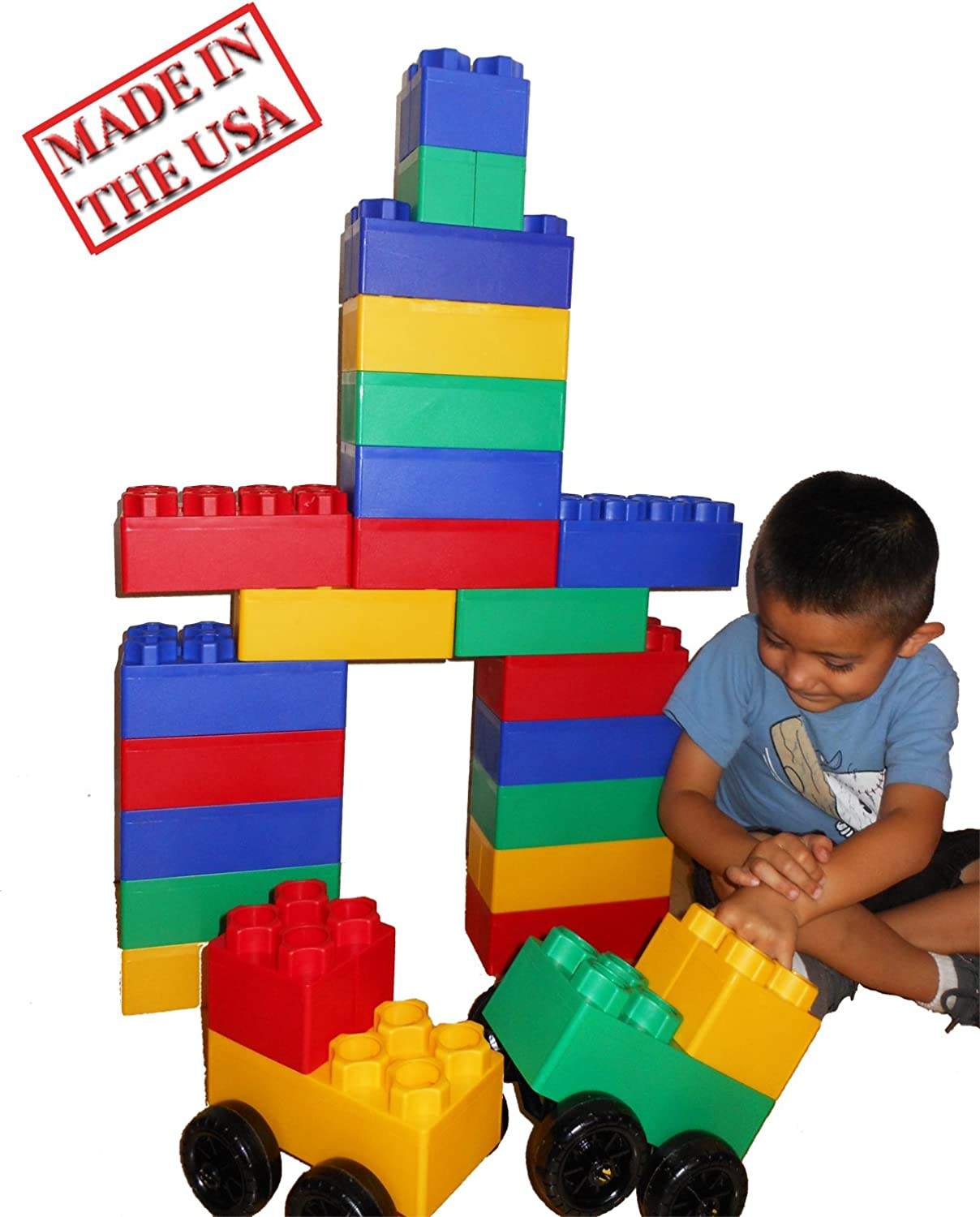 40pc Jumbo Blocks - Big City Playset with Wheels by Kids Adventure