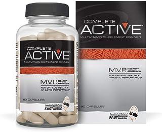 Complete Nutrition Complete Active Multivitamin, Men's Daily Multivitamin, Creatine, Beta Alanine, 90 Capsules