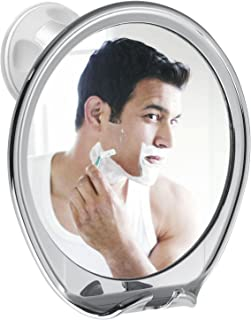 Fogless Shower Shave Mirror Fog Free Mirrors for Shower Bathroom Shaving Mirror with Razor Holder Strong Locking Suction 360°Rotating No Fog for Easy Mirrors Viewing