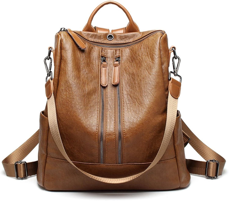 HGDR Frauen Echtes Echtes Echtes Leder Rucksack Rucksäcke Daypack Handtasche Schultertasche Multifunktions Reisetasche Große Kapazität B07F2JQ3J6  Lass unsere Waren in die Welt gehen 98987d