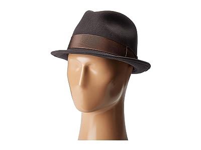Country Gentleman Floyd Traditional Wool Fedora Hat (Slate) Caps