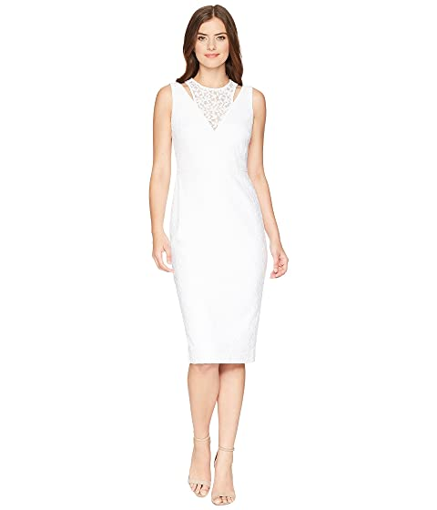 74d7f39162b Calvin Klein Lace Sheath Dress with Shoulder Cut Outs CD8L19FT at 6pm