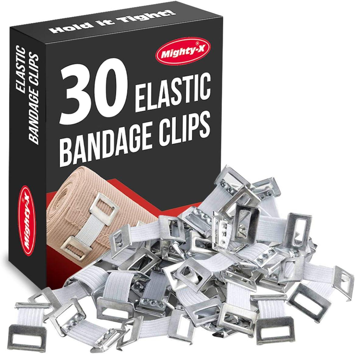 Elastic Bandage Clips - 30 Pack - Bandage Wrap Clips : Health & Household