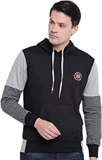 GHPC Plain Solid Sweatshirt Jacket Full Sleeves Slim Fit Hoodies for Men