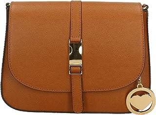 Chicca Borse Bag Borsa a Spalla in Pelle Made in Italy 24x18x8 cm