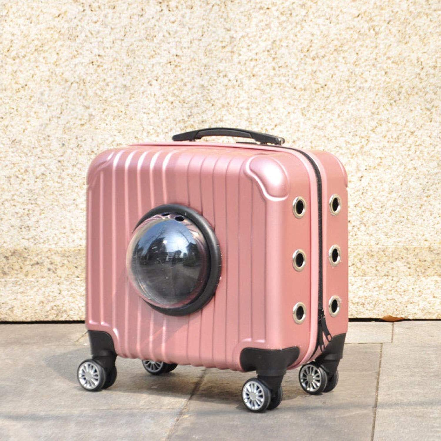 Lyjfzkjgs Pet Trolley Bag Pet Pack Outing Portable Cat Bag Cat Cage Dog Outing Bag Dog Air Box Cage,gold