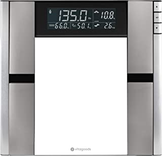 Vitagoods Form Fit Digital Analyzer Body Weight Scales, Silver 5 Pound