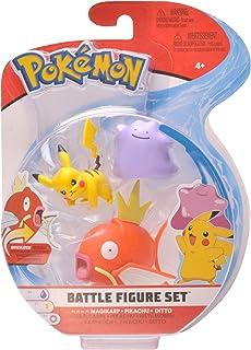 PoKéMoN Figure Battle 3-Pack, Ditto, Pikachu & Magikarp, Newest Wave 2020